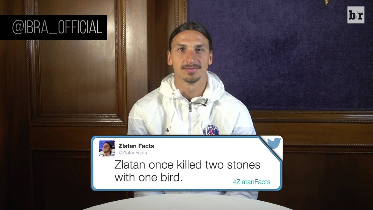 Zlatan Ibrahimovic reads out 'Zlatan Facts', 'beats the Mona Lisa in staring contest'