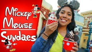 NEW Mickey and Minnie Mouse Sundaes are Just in Time For Summer! | Disneyland Resort