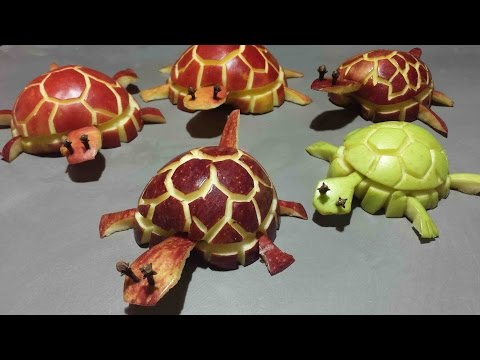 Tortue en pomme, apple turtle, manzana tortuga