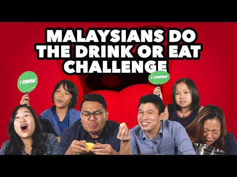 Malaysians Do the Drink or Eat Challenge | Presented by Marigold Peel Fresh