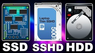 Computer Internal Memory Storage ft. HDD vs SSD vs SSHD