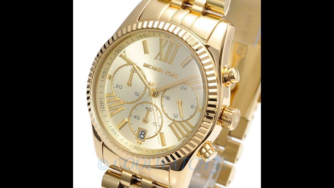 b7765411c18f MICHAEL KORS WATCH MK5556 LEXINGTON GOLD REVIEW WOMENS MK5556 マイケル・コース 腕時計  ゴールド レビュー レディース