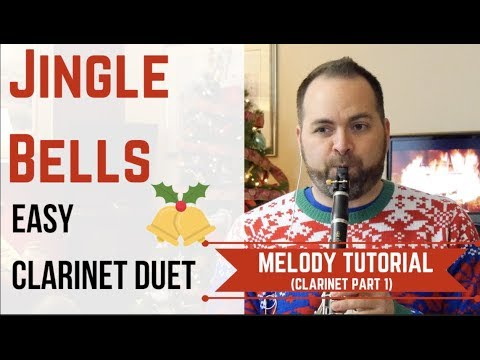 Jingle Bells - CLARINET Melody (Easy Duet)