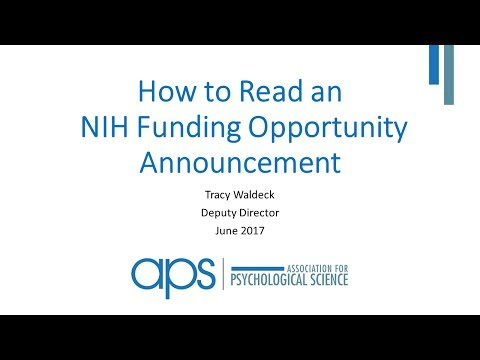 How to Read an NIH Funding Opportunity Announcement