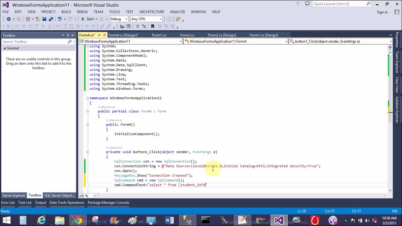How to retrieve data from database using ADO NET in windows form ...