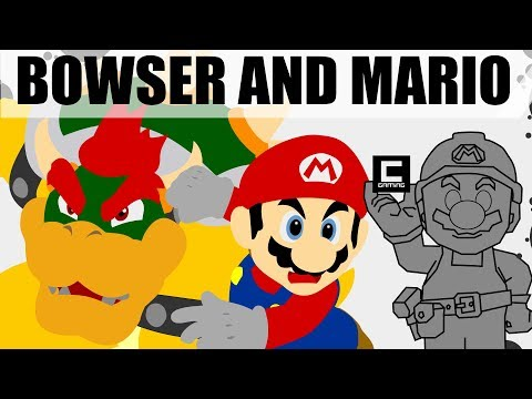5 Designs for Bowser and Mario Cooperation Levels in Super Mario Maker.