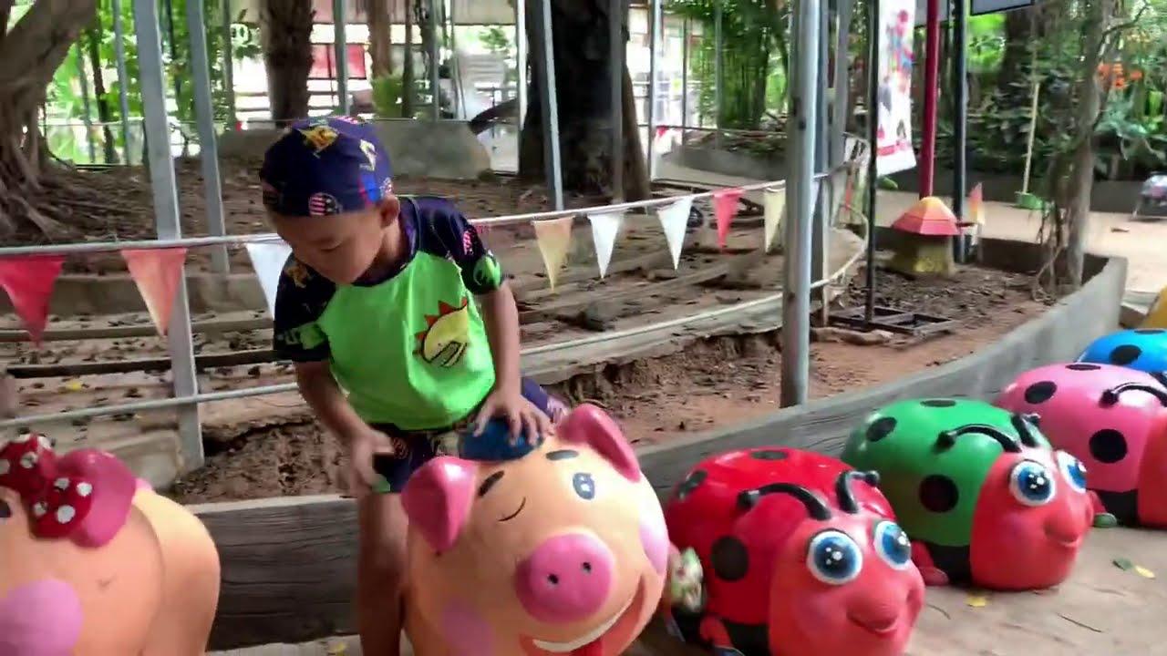 กังฟู กาฟิว โช จุล เล่นสวนน้ำ สิริญาปาร์ค สนุกมาก SIRIYA PARK
