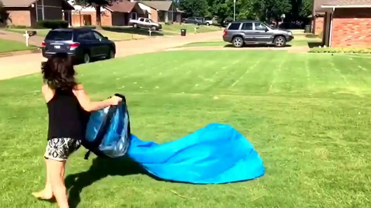 Inflatable Lawn Chair Costco Bean Bag Check Out Us Trying To Inflate The Lounge Youtube
