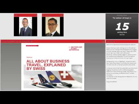 Webinar All about Business travel, explained by SWISS