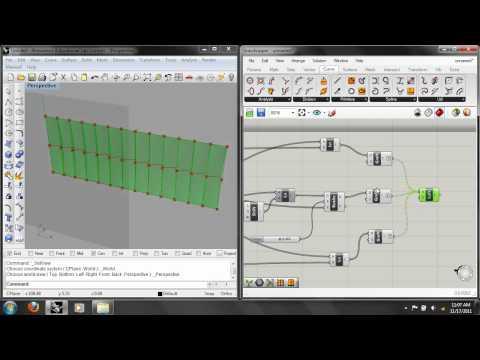 Grasshopper Lab 4: Data Structures, Truss & Twisted Strip Surface