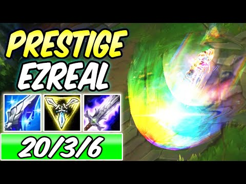 *NEW* PRESTIGE EDITION EZREAL PSYOPS INSANE S+ GAMEPLAY | 45% CDR Build & Runes | League of Legends