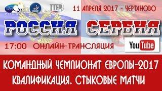 РОССИЯ-СЕРБИЯ. Мужчины. Квалификация. Чемпионат Европы-2017. 1-й матч