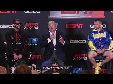 THE FULL LOMACHENKO VS LINARES POST PRESS CONFERENCE VIDEO