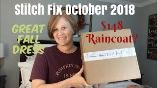 Stitch Fix October 2018 / Would you keep the raincoat?/ A Pricey Box