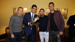 BEHIND THE SCENES - Luis Suárez Golden Shoe ceremony (2016)