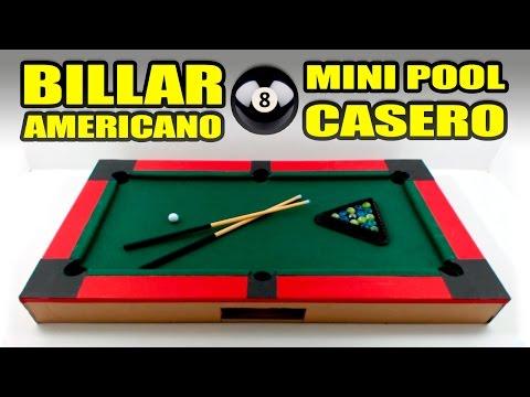 MINI POOL O BILLAR AMERICANO - Increíble Juguete Casero   Te Digo Cómo