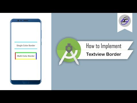 How To Implement Textview Border In Android Studio | TextviewBorder | Android Coding