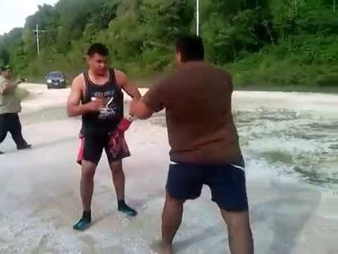 Nauru street fight