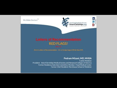 Part 1: Letters of Recommendation: Red Flags!