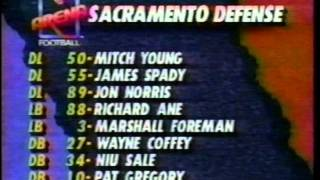 AFL 1992 SACRAMENTO ATTACK AT ARIZONA RATTLERS