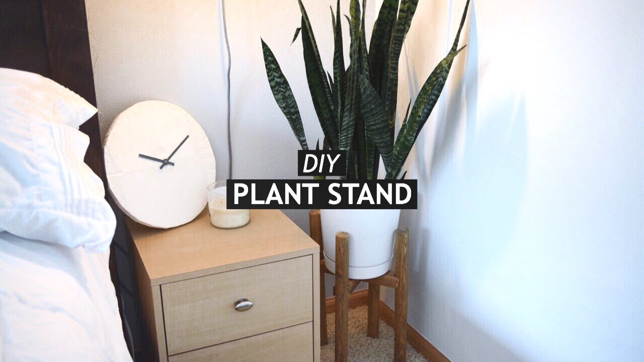 DIY MODERN PLANT STAND   YouTube