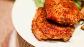 Домашние видео-рецепты - свиные котлеты с яблочным соусом в мультиварке