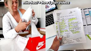 nike haul + how i plan out my youtube videos  (its insane dont judge me lol)
