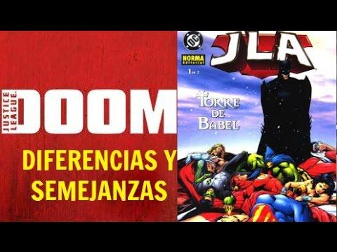 DIFERENCIAS Cómic/Película JUSTICE LEAGUE: DOOM