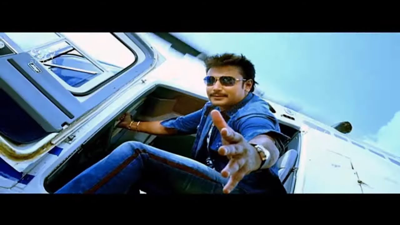 Darshan Came to Rescue Friend from Rowdies by Helicopter | Brundhavana Movie Best Action Scene