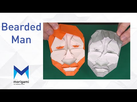 How to make a Bearded Man Mask - Morigami tutorial