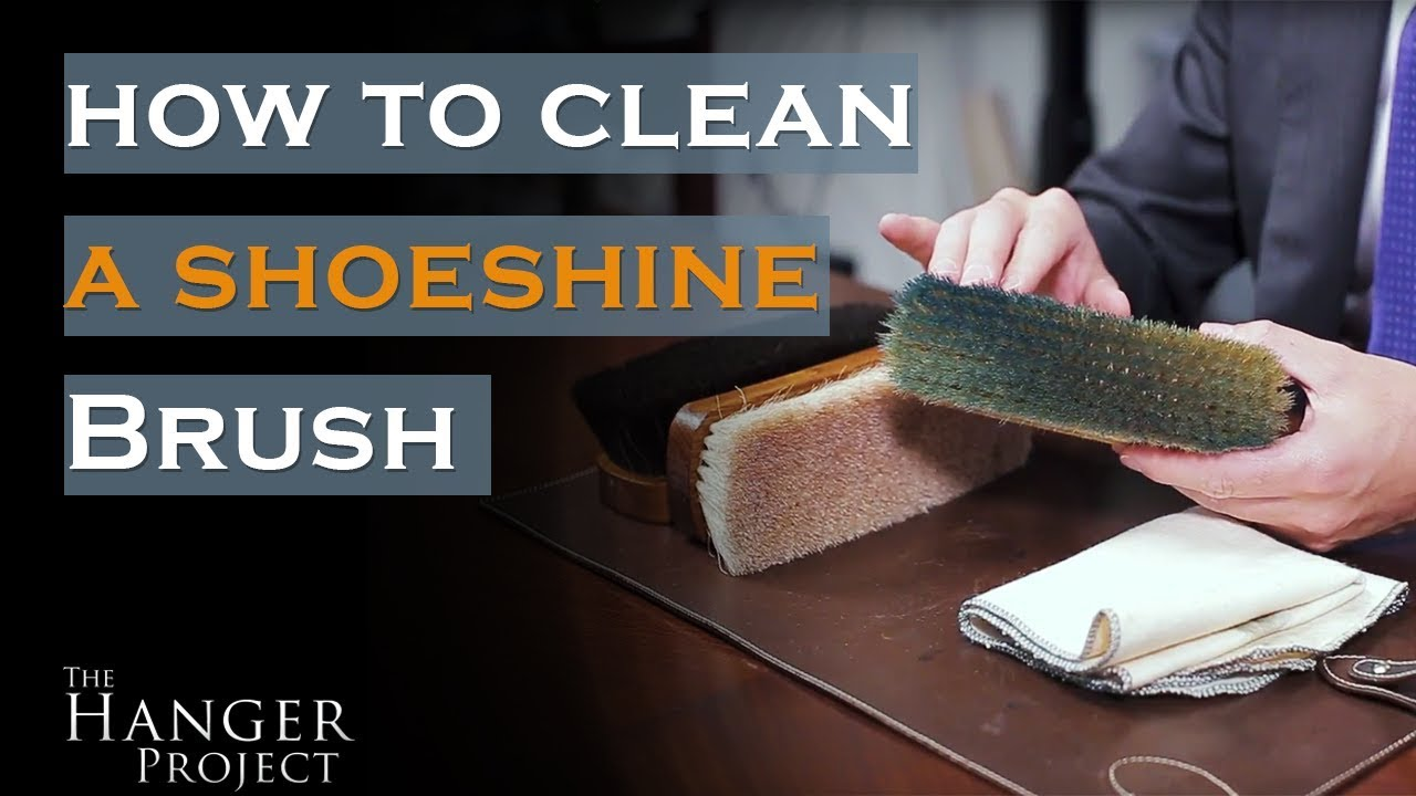 How To Clean A Shoe Polish Brush Youtube Cololite Sport Shoes Cleaner