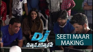 Seeti Maar Song Making - DJ Movie Making | Allu Arjun, Pooja Hegde