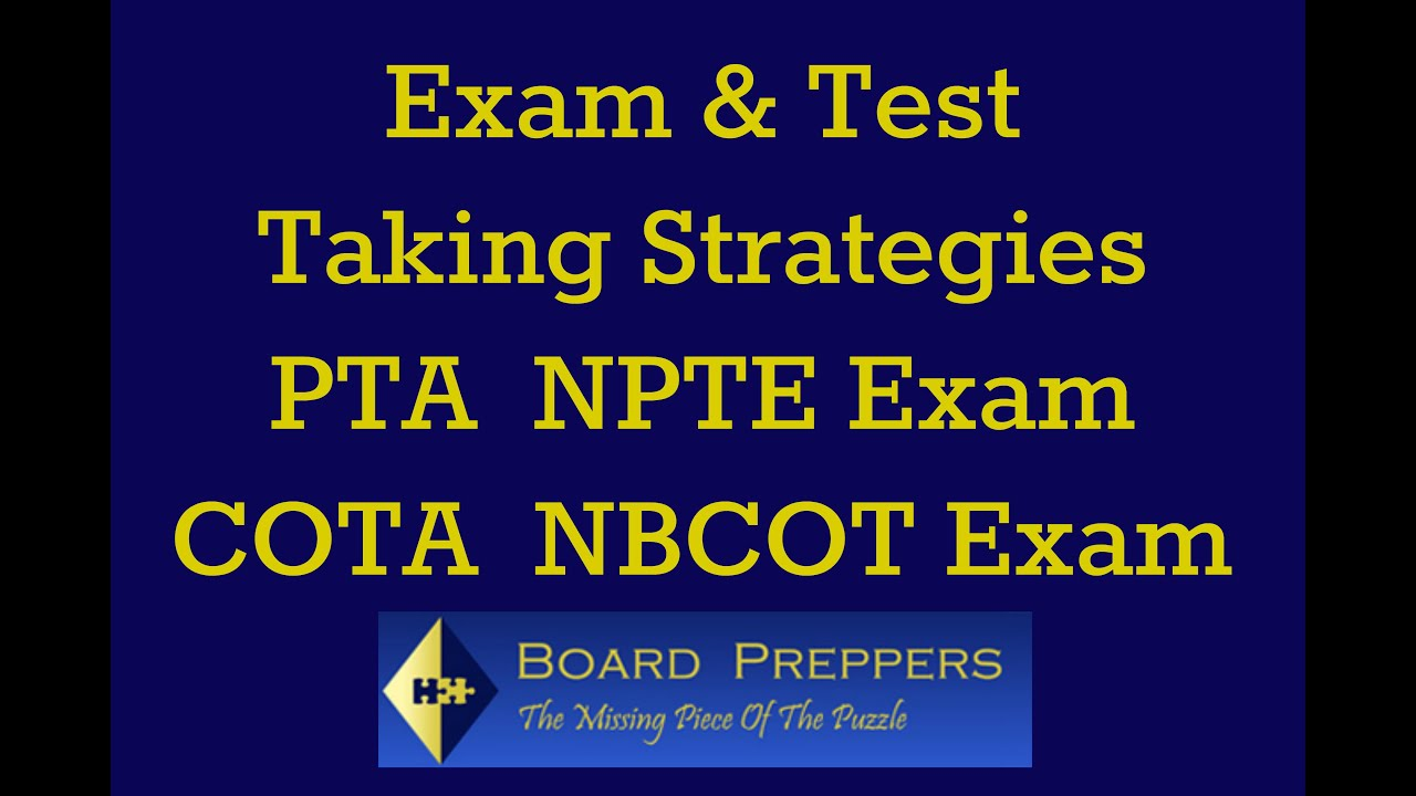 Physical therapy assistantlos angeles - Pta Exam Physical Therapist Assistant Npte Exam Nbcot Exam Occupational Therapist Assistant