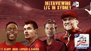 Interviewing Liverpool in Sydney ft. Klopp, Lovren, Karius & Origi