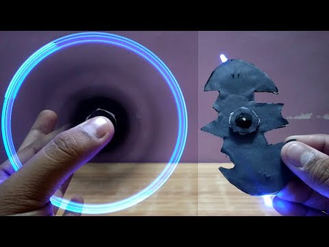 How to Make Fidget Spinner at Home Without Bearings LED Fidget Spinner