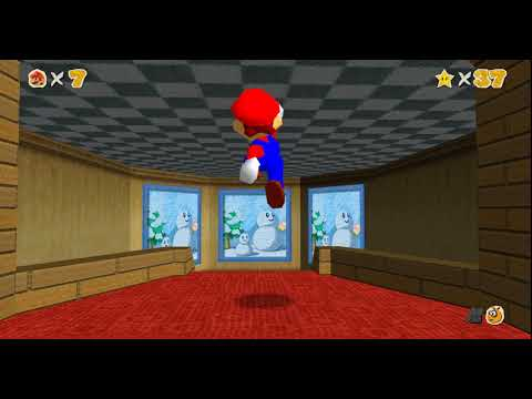 Super Mario 64 at 60fps and widescreen with texture pack