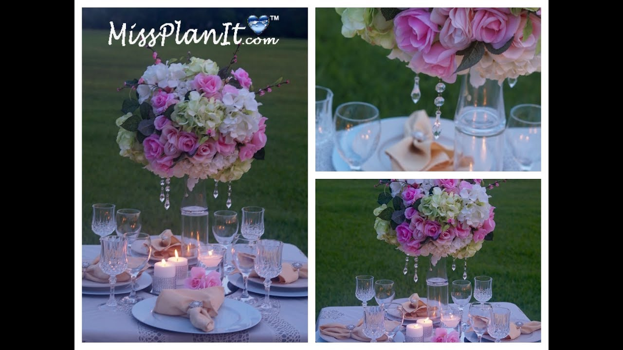 Tall Elegant Wedding Centerpiece Diy How To Create A Centerpiece
