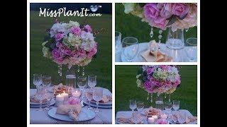 Tall Elegant Wedding Centerpiece   DIY   How To Create A Centerpiece Fit For A Princess
