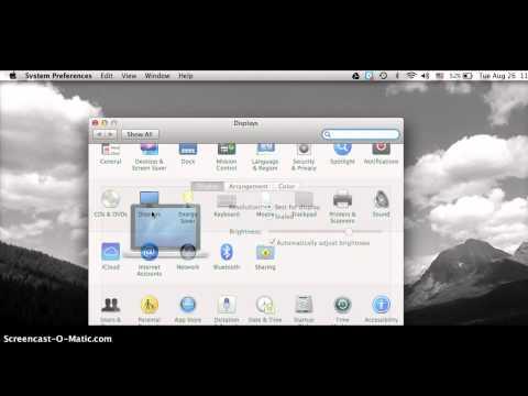 projector hook up to macbook pro