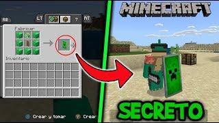 Como Hacer Escudos Secretos en Minecraft Xbox one/Pocket Edition/W10