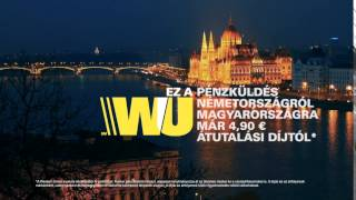 This is money transfer with Western Union from Germany to Hungary – fast, reliable, convenient