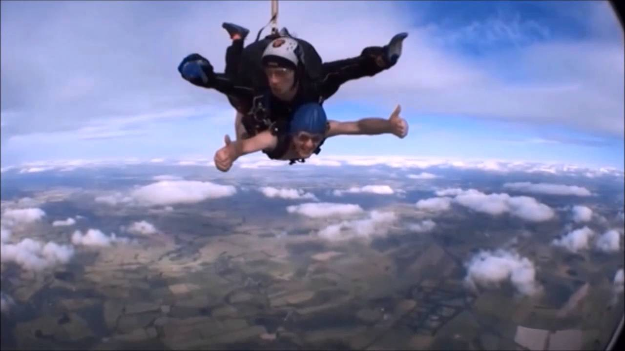 Naked skydivers bid for world record in plea for British
