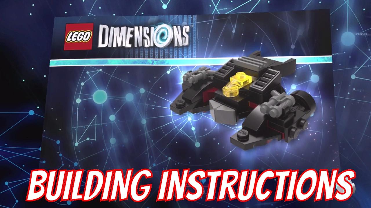 lego dimensions batwing building instructions lego. Black Bedroom Furniture Sets. Home Design Ideas