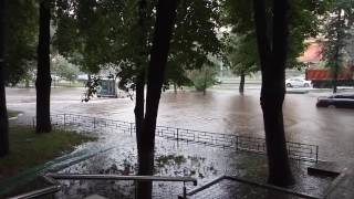 Москва Ленинский проспект , наводнение.