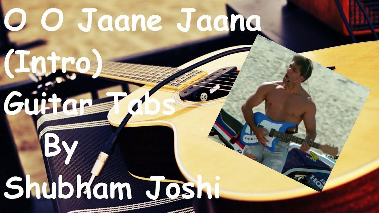 O O Jaane Jaana Intro Easy Guitar Tabs Tutorial For Beginners