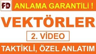 VEKTÖRLER -2  ÖZEL ANLATIM  ( ANLAMA GARANTİLİ )