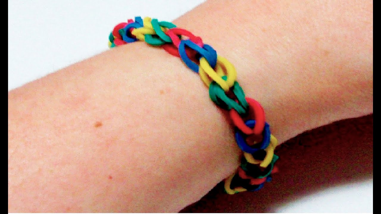 How to make a rubber band bracelet in just 5 minutes for Rubber band crafts without loom
