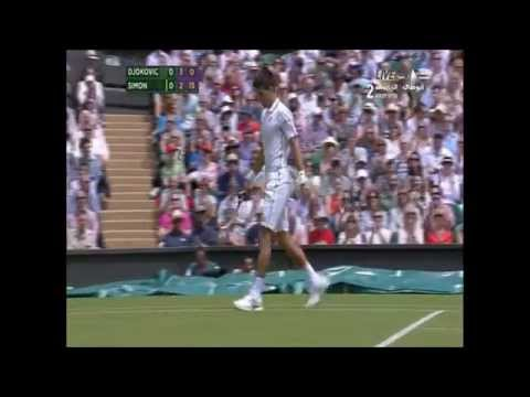 Djokovic Vs Simon Wimbledon 2014 Highlights[HD]