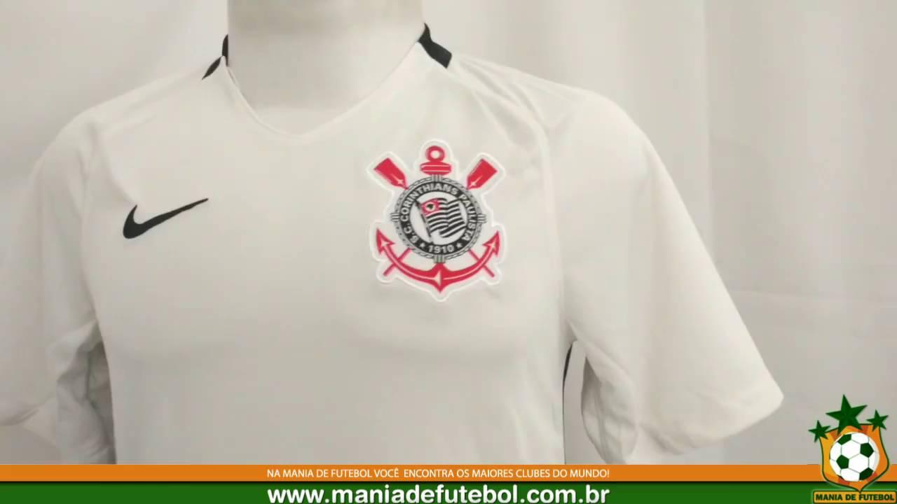 c3f9ad225d099 Camisa Jogo 1 Corinthians Nike 2016 Branca S N - YouTube