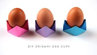 DIY ORIGAMI EGG CUPS.